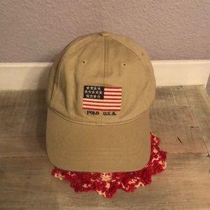 NWT Super Polo Sport RL Tan Patriotic Hat